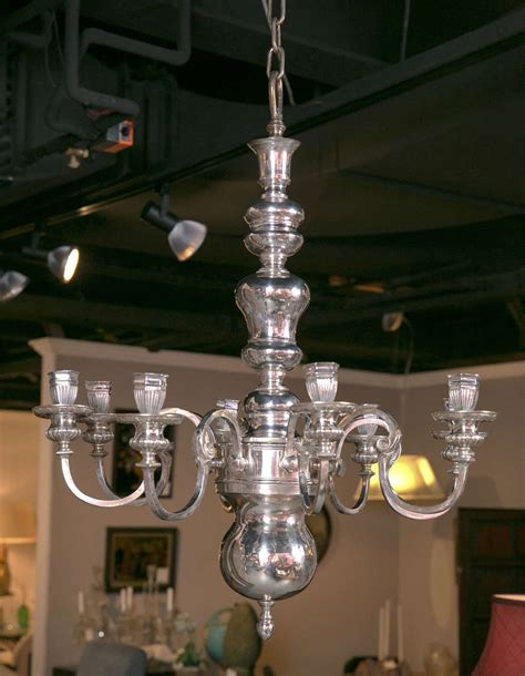 Caldwell Silver Plated Eight Light Chandelier For Sale At Caldwell Lights