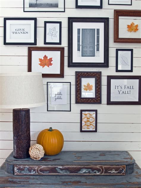 9 design home decor acorns and autumn create a wall grouping with fall flair