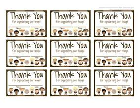 my fashionable designs scouts brownies free printable thank you cards