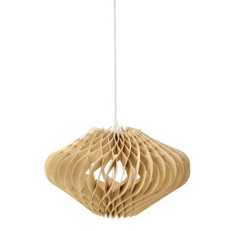 Wooden Light Pendant Wooden Pendant L D 42cm Maisons Du Monde