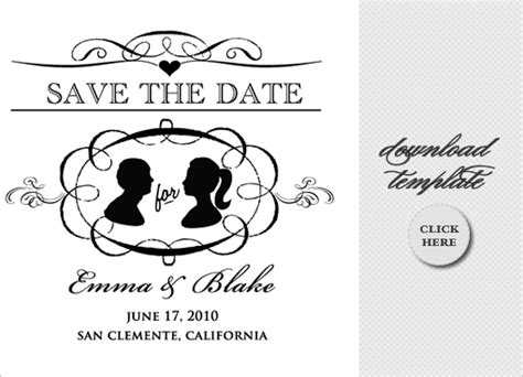 vintage save the date template 6 best images of save the date templates for word free