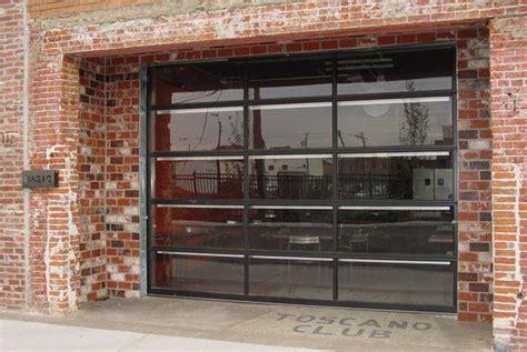 Garage Door Clopay Avante Bronze Anodized Frame With Clear Garage Door
