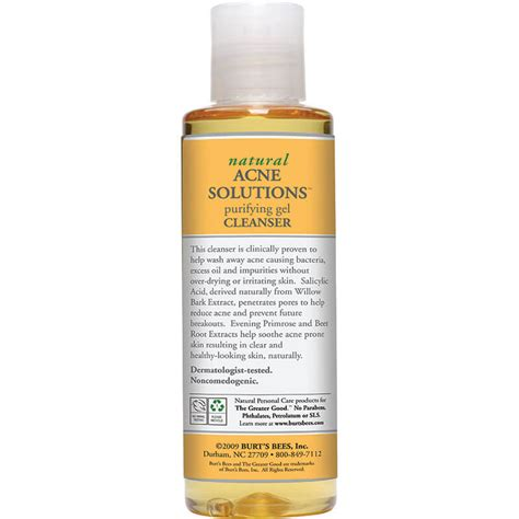 Detox Acne Away by Burt S Bees Acne Solutions Purifying Gel Cleanser