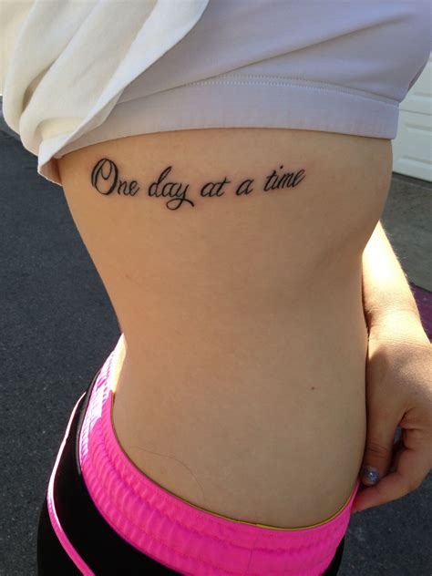small first time tattoos a simple reminder to live one day at a