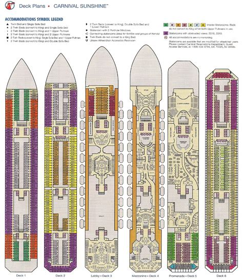 carnival sunshine floor plan carnival sunshine deck plan