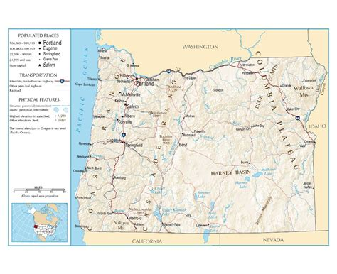 map of oregon usa maps of oregon state collection of detailed maps of