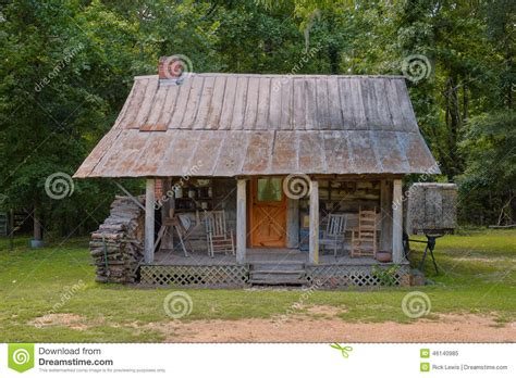 Southern Log Cabins by Rural Southern Log Cabin Stock Image Image 46140985