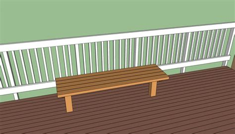 deck bench seat plans deck bench plans free howtospecialist how to build