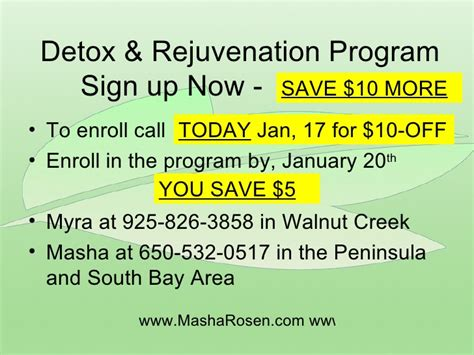 Detox Bay Area by Detox Rejuvenate For The New Year