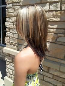 medium lentgh hair with highlights and low lights medium length hair cut with partial blonde highlights i