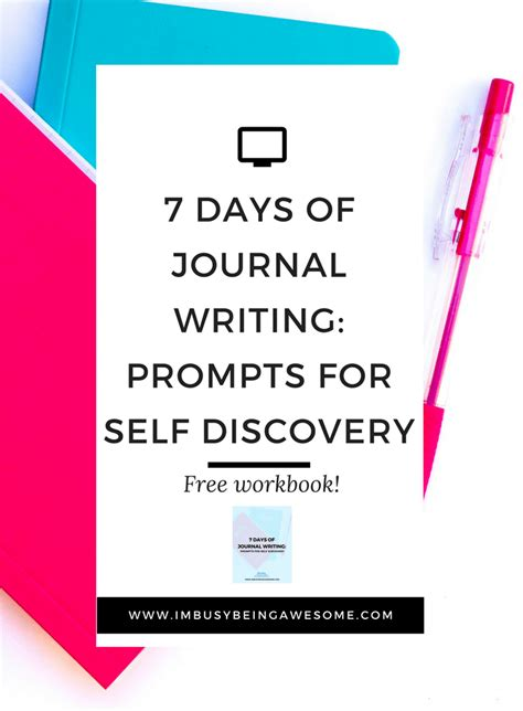 a journal of self discovery 7 days of journal writing prompts for self discovery i
