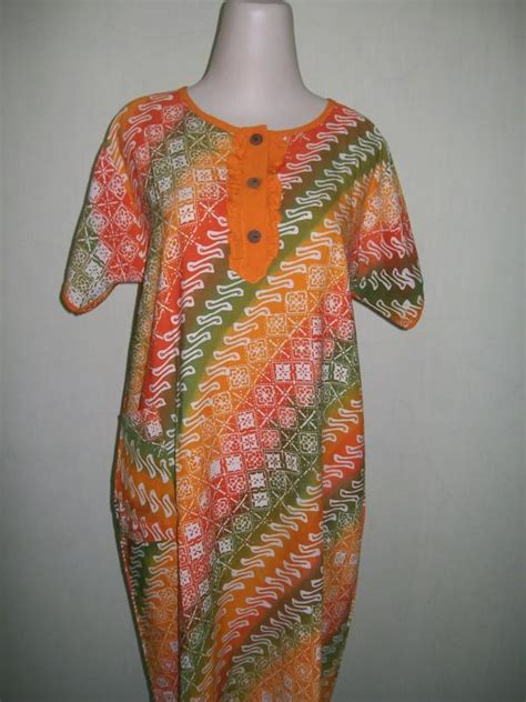 Busana Wanita Murah Dress Joanna D 008 daster ibu batik cap ds008 toko batik 2018
