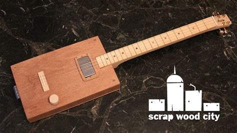 How To Make String On Wood - how to make a cigar box style electric guitar