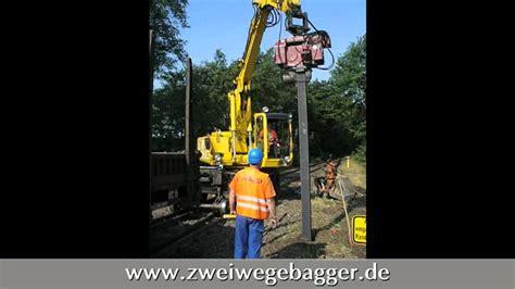 bsb saugbagger und zweiwegetechnik stefan mattes gmbh co kg bsb einrammen eines doppel t tr 228 gers mit zweiwegebagger