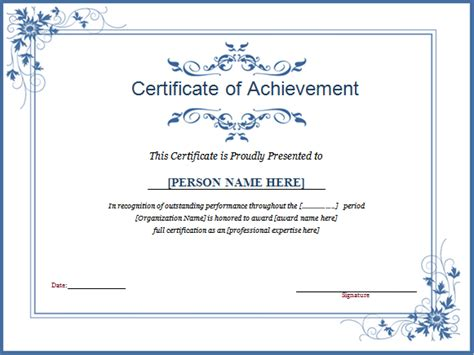 winner certificate template winner certificate template for ms word document hub