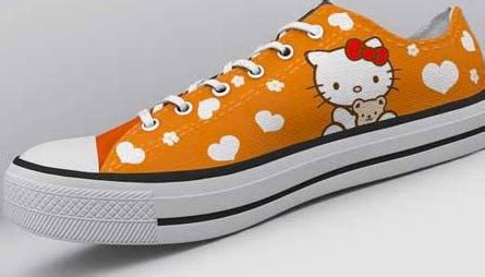 Sepatu Lukis High Converse 5 sepatu converse low lukis hello kity sepatu lukis indonesia