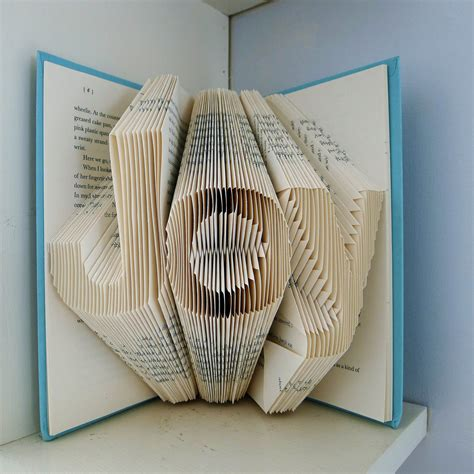 Book Paper Folding - home decor folded book by lucianafrigerio