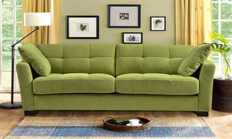 apple green sofa throw regent tufted microfiber sofas groupon goods