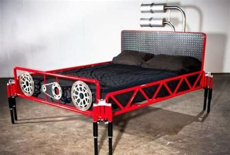 Handmade Metal Furniture - original ideas to recycle vehicles and pipes for metal