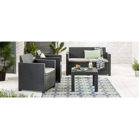 allibert loungeset messina allibert loungeset messina 4 delig incl kussens