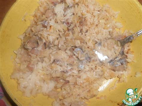 Начинка для пирога рис с консервой