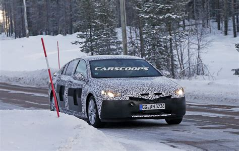 opel winter next opel insignia caught during winter testing will