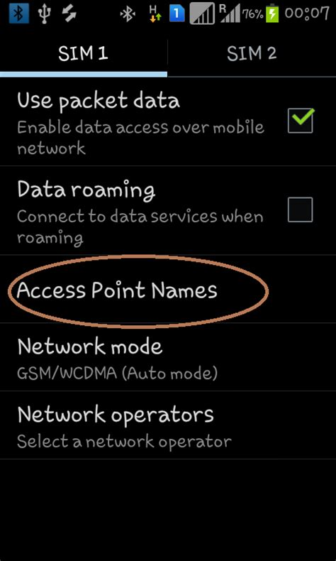mobile apn apn of uninor for android samsung micromax sony