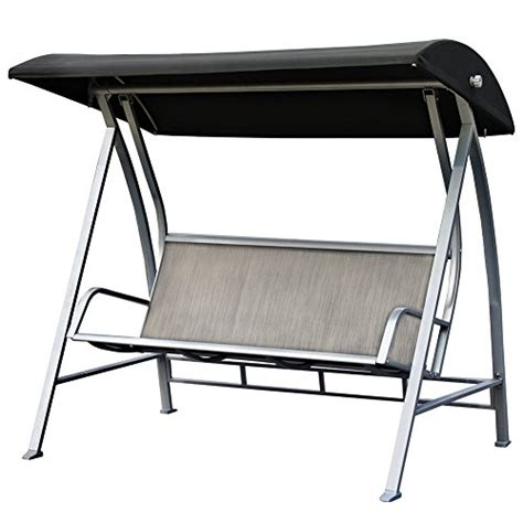 metal swing frame outdoor furniture patiopost outdoor swing canopy sling chair 3 seats with