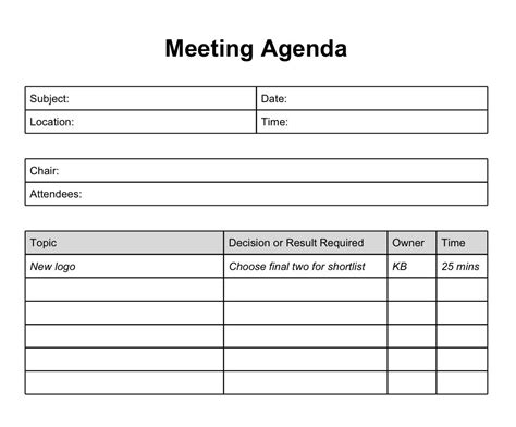Printable Template Of Meeting Minutes Long Does It Take The Meeting And Who Will Be Attending One On One Meeting Email Template