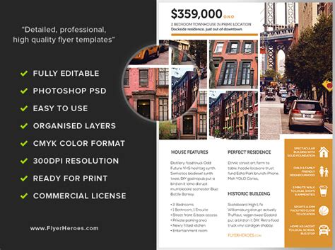realtor flyer template real estate flyer template flyerheroes