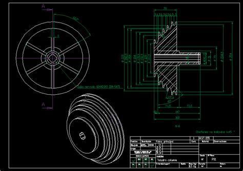 main pulley twist drill dwg block  autocad designs cad