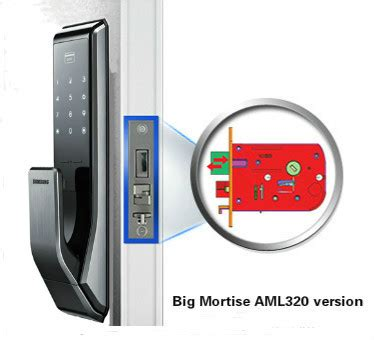 Digital Doorlock Samsung Shs P717 shs p717 lbk samsung smart push pull handle digital door lock big mortise aml320 version