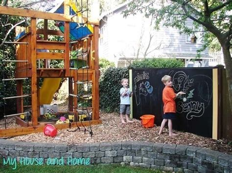 Backyard Ideas Diy 30 Give A Place To Play By Setting Up A Chalk Board