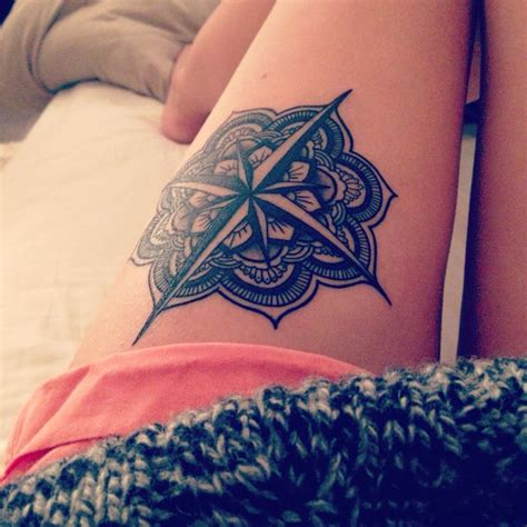 mandala compass tattoo 17 meilleures id 233 es 224 propos de mandala compass sur