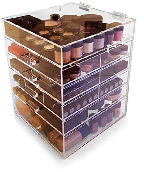 Acrylic Makeup Organizer With Drawers Kardashians by Clear Acrylic Inspired 5 Drawers With Cover
