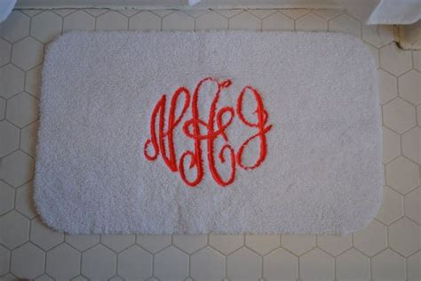 monogrammed bath rug custom monogrammed bath mat bathroom bath mats etsy and bath
