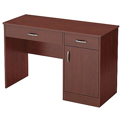 south shore office furniture south shore furniture axess small desk royal cherry by
