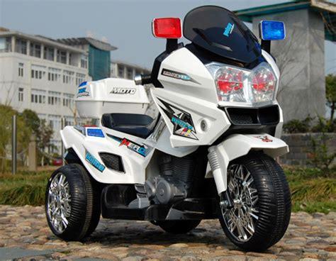 Kindermotorrad Video by 12v Polizei Elektro Motorrad Kindermotorrad Roller