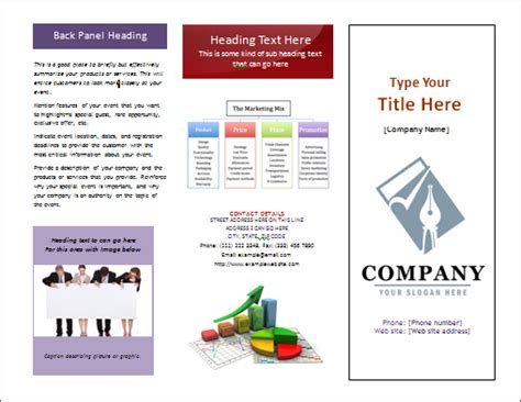 ms word tri fold pamphlet pamphlet office templates online