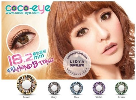Softlens Coco Eye 3 Tones Brown Coklat jual softlens coco eye 3 tone