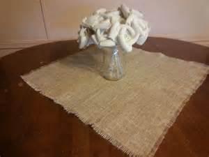 burlap table topper square 24x24 set of 10