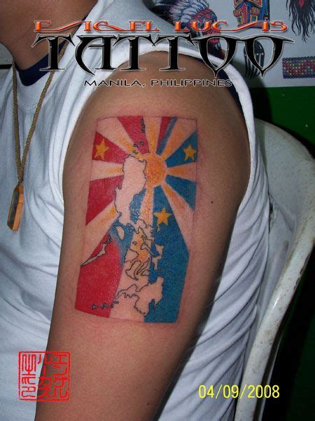 philippine flag tattoo design philippine flag philippine islands with sun and