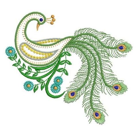 embroidery design of peacock image detail for vintage peacock embroidery design