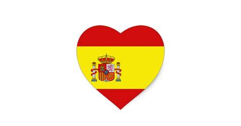 Aufkleber Von Papier Lösen by Spanien Flaggen Herz Aufkleber Herz Aufkleber Zazzle