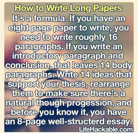 How To Make Papers Longer - how to write a paper musely