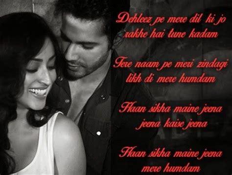 atif aslam s jee le zindagi s lyrics best 25 badlapur songs ideas on