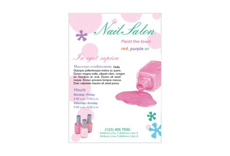 Nail Salon 1 Print Template Pack From Serif Com Nail Brochure Templates Free