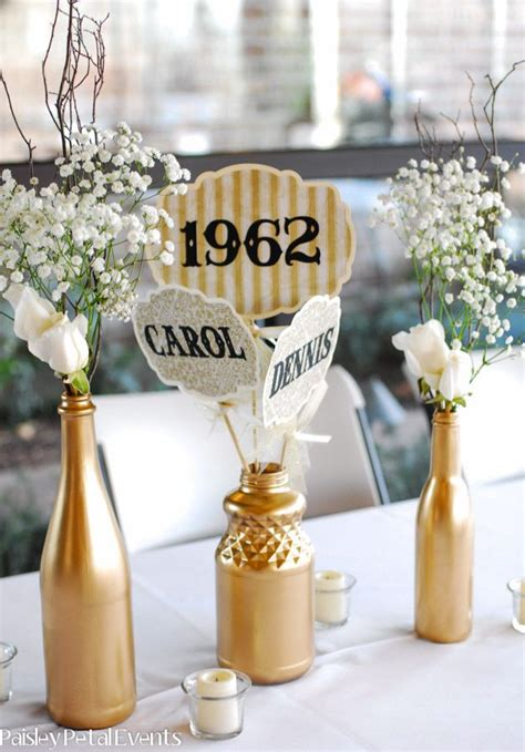 captivating decoration ideas for 50th wedding anniversary 50th anniversary table decorations other decorations