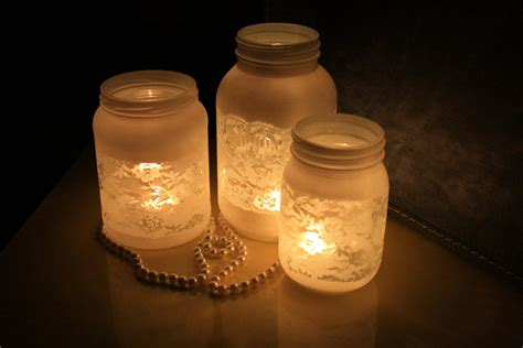things brides love mason jar wedding reception decor centerpieces frosted with lace onewed com