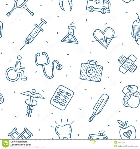 free medical background pattern medical and health care seamless pattern stock vector